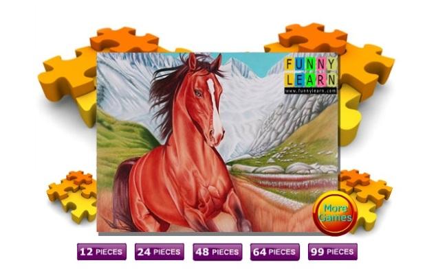 puzzle cu cai calul salbatic de munte